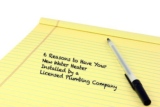 6 Reasons to Have A Plumber Install Your Water Heater
